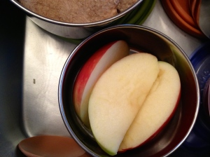Apple slices. Vitamin C and fiber.
