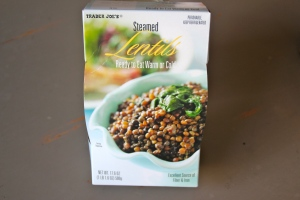 If I were more ambitious I would cook my own lentils. But...I'm not. Sigh.....