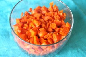 Fine-chop your carrots.
