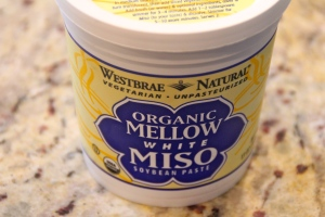 There are different kinds of miso. This is mellow miso. Just sounds velvety, no?