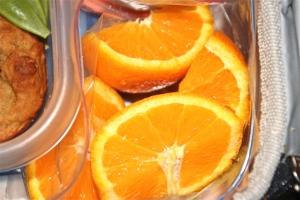 Orange wedges. Simple.