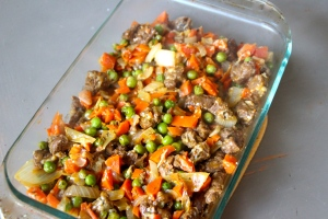 Add it to your casserole dish.