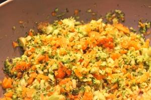 Pan fry the veggies....