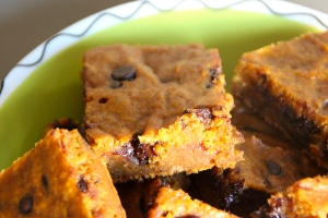 Pumpkin Blondie Bars