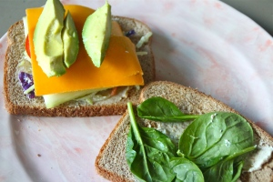 Avocado wedges. Here is the creamy part of this awesome sandwich. Don't skip this.