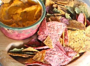 A healthy sweet potato dip