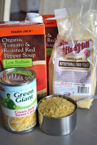 My stuff, but I am thinking this would work well with most boxed soups. Black bean, butternut squash..