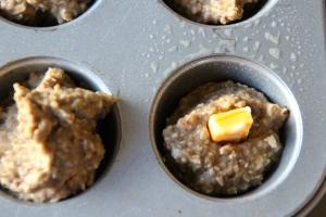 Scoop in your lentil mixture...