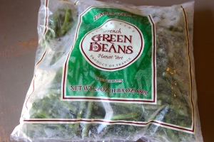 Buy some frozen green beans.