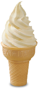 Average soft serve from a fast food restaurant is about 170 calories. Pick your poison. I'd rather the ice cream myself.