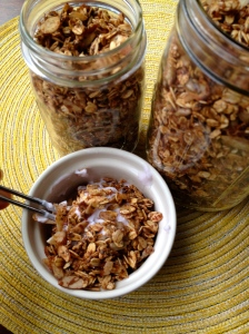 A low-sugar granola.