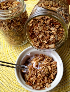 Granola done light.
