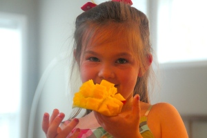 And another posed with the mango...