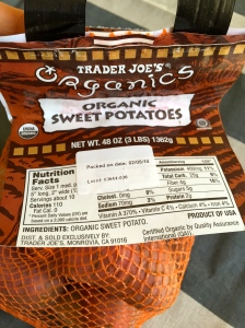 Start with a bag of sweet potatoes. This baby is a 3lb-er.