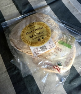 Couple packages of tortilla of choice.