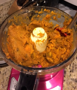 Pile sweet potato into food processor. Add seasoning. Pulse a few times to incorporate.