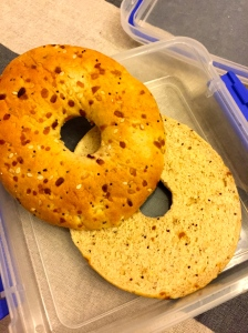 First up, the bagel thin sandwich.