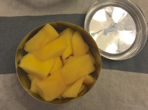 Some cut mango always goes over well. Apples although easy can sometimes be such a snooze...zzzz....